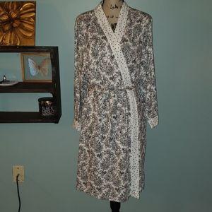 Carole Hochman Plus Cotton Floral Polka Dot Robe